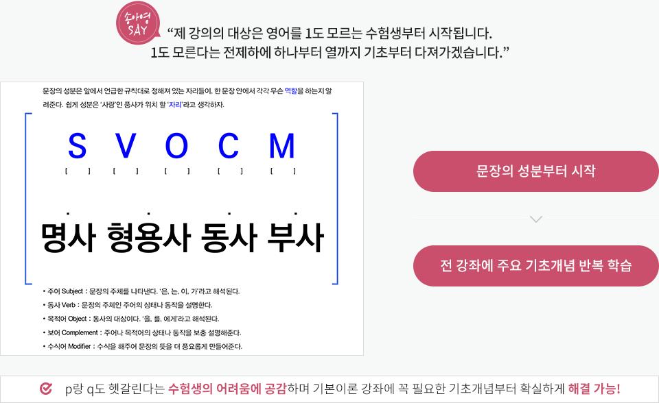 송아영 소방영어 특징 설명1