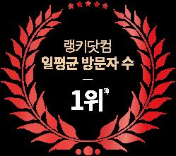 랭키닷컴 일평균 방문자 수 1위