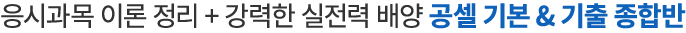 응시과목 이론정리 + 강력한 실전력 배양 공셀 기본 & 기출 종합반