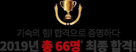 2019년 총 66명 최종 합격!