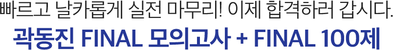 곽동진 FINAL 모의고사 + FINAL 100제
