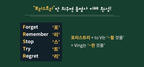'포리스트리'만 외우면 동명사 이해 완성!
