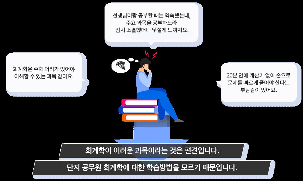 회계학이 어려운 과목이라는 것은 편견입니다. 단지 공무원 회계학에 대한 학습방법을 모르기 때문입니다.