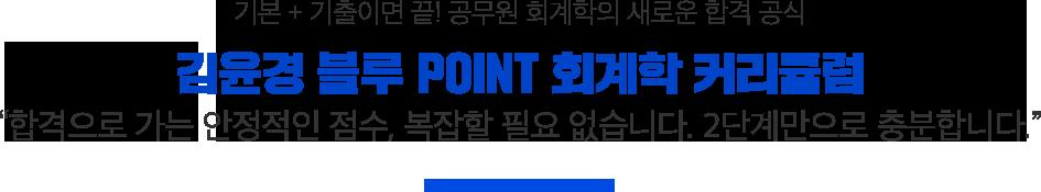 김윤경 BLUE POINT 회계학 커리큘럼