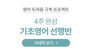4주 완성 기초영어 선행반