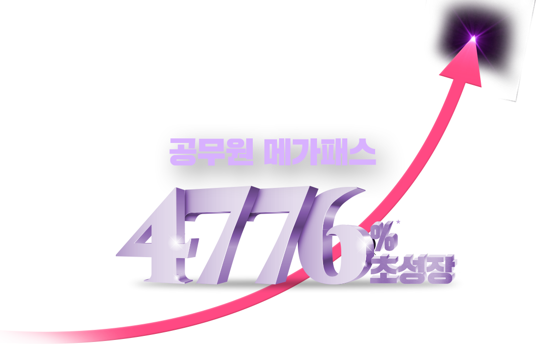 공무원 메가패스 47.76% 초성장