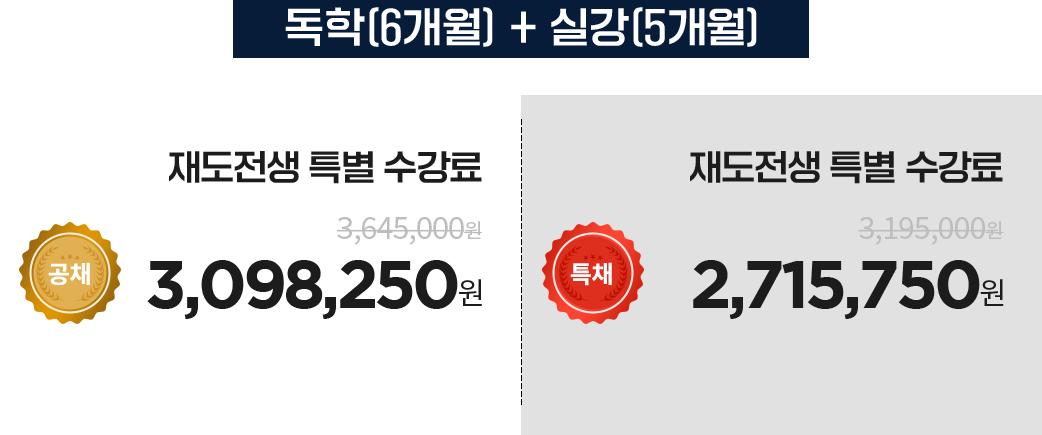 독학 6개월 + 실강 5개월