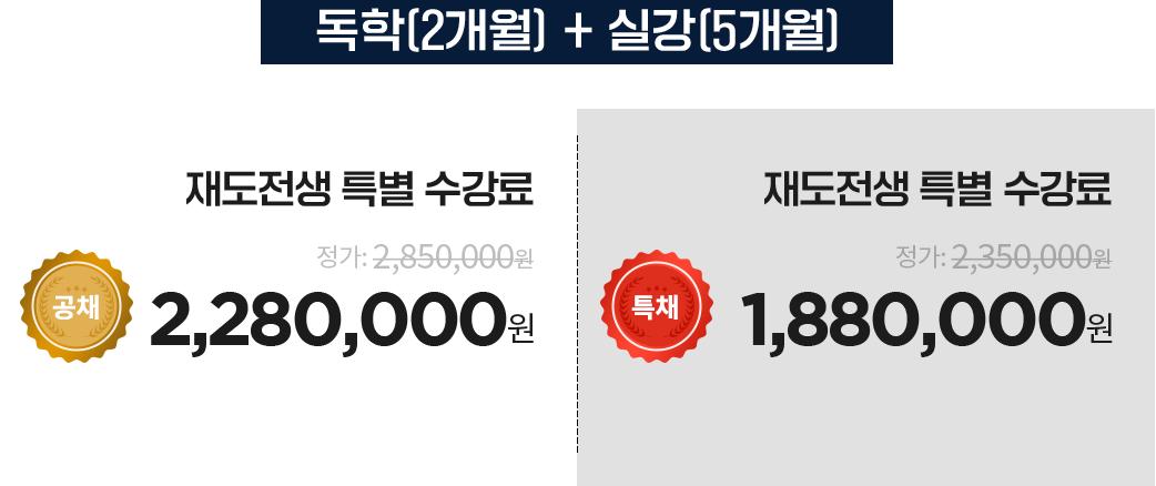 독학(2개월) + 실강(5개월)