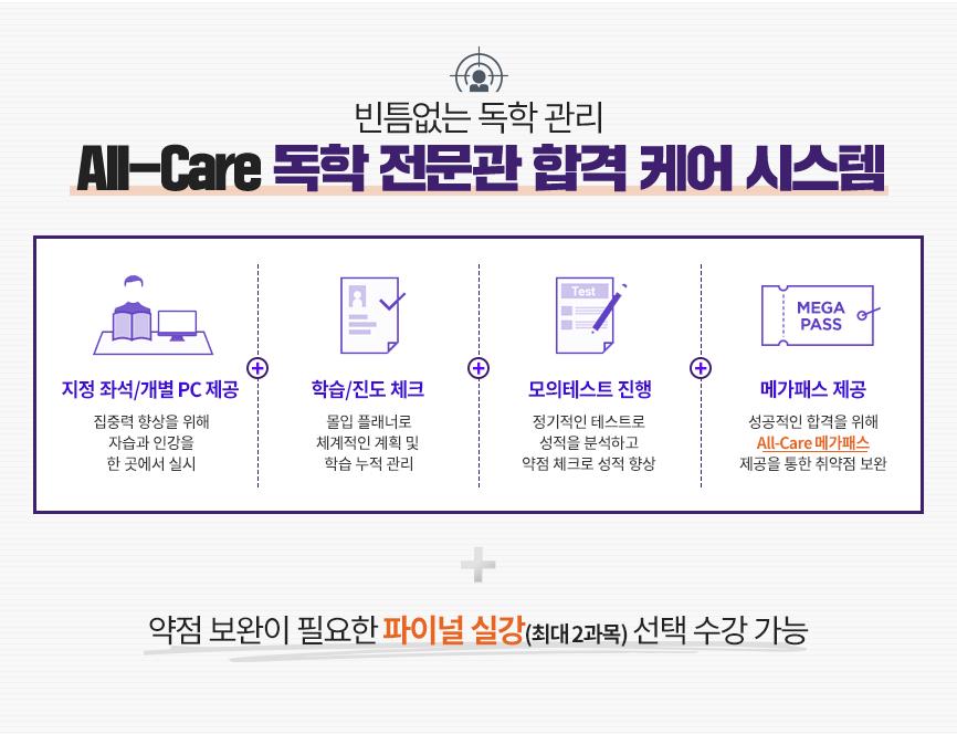 All-Care 독학 전문관 합격 케어 시스템