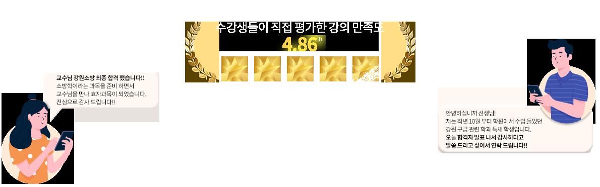 수강생들이 직접 평가한 강의 만족도 4.86