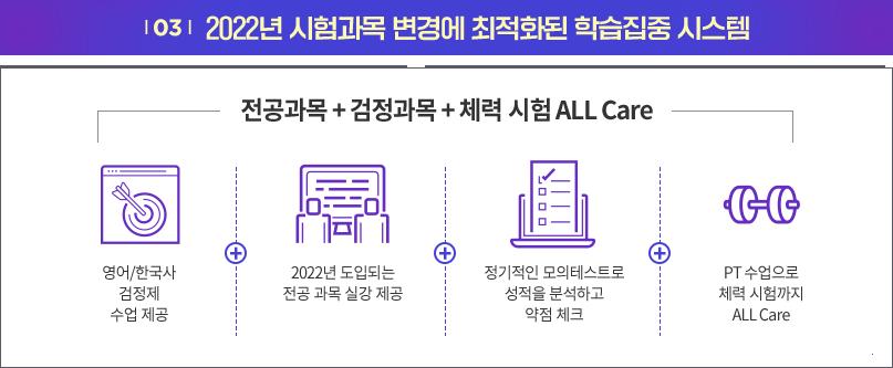 03 2022년 시험과목 변경에 최적화된 학습집중 시스템