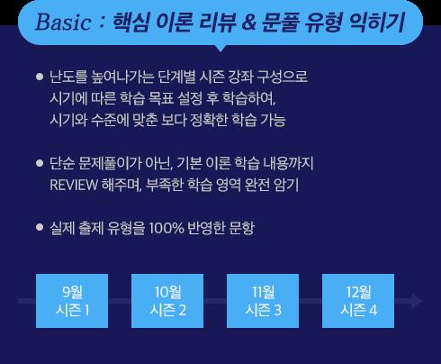 BASIC : 핵심 이론 리뷰 & 문풀 유형 익히기